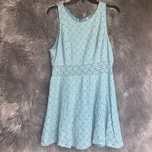 Mudd Teal Lace Dress